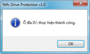 Ntfs Drive protection 2
