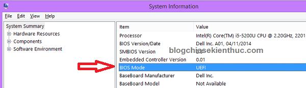Xem máy tính đang sử dụng chuẩn nào